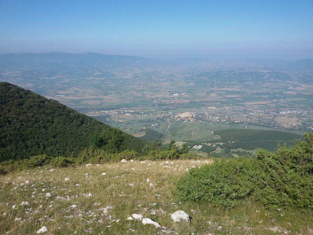 Panorama su Trevi